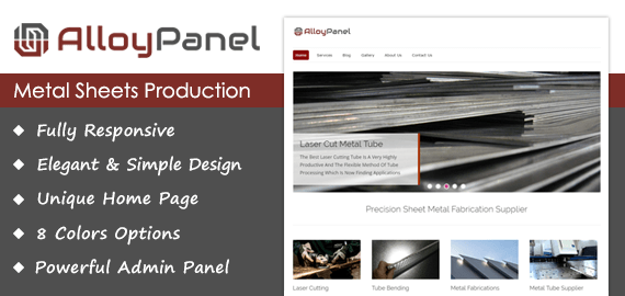 [AlloyPanel] Metal Sheets Production WordPress Theme