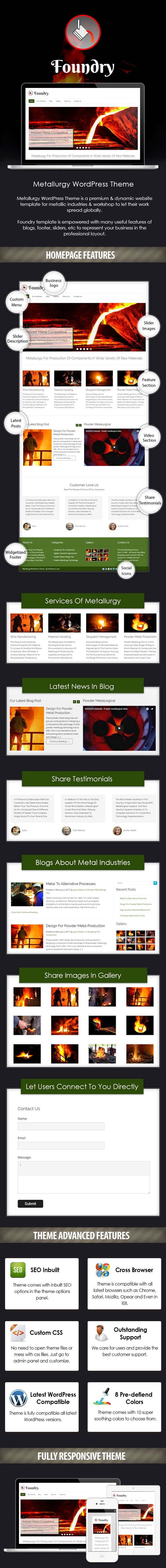 Metallurgy WordPress Theme Sales