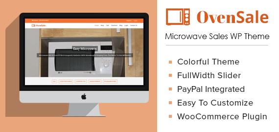 Microwave Sales WordPress Theme