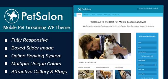 Mobile Pet Grooming WordPress Theme