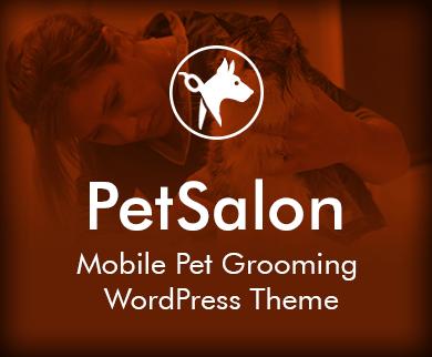 Pet Salon - Mobile Pet Grooming WordPress Theme & Template