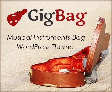Gig Bag - Musical Instruments Bag WordPress Theme & Template