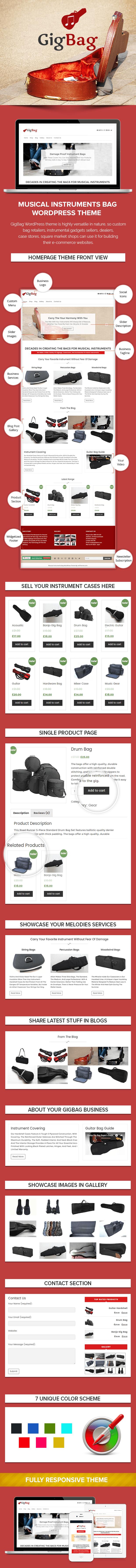Musical Instruments Bag WordPress Theme