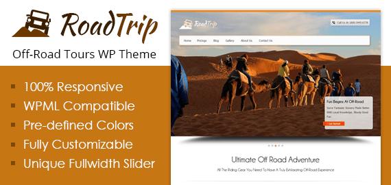 Off-Road Tours WordPress Theme