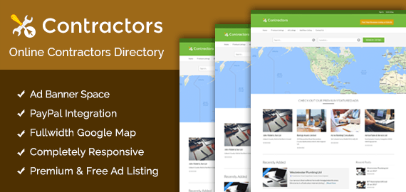 Online Contractors Directory WordPress Theme