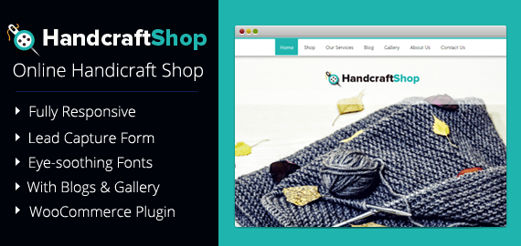 Online Handicraft Shop WordPress Theme