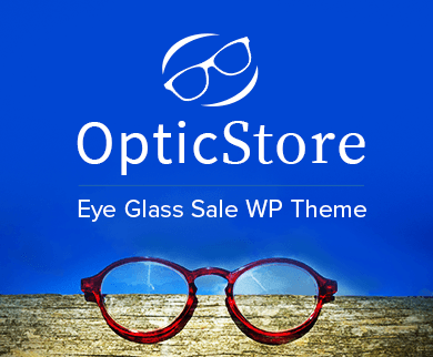 Optic Store - Eye Glass Sale WordPress Theme & Template