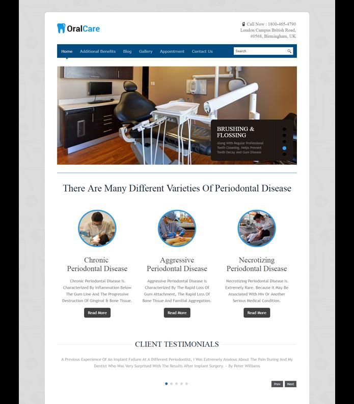 Oral Care WordPress Theme