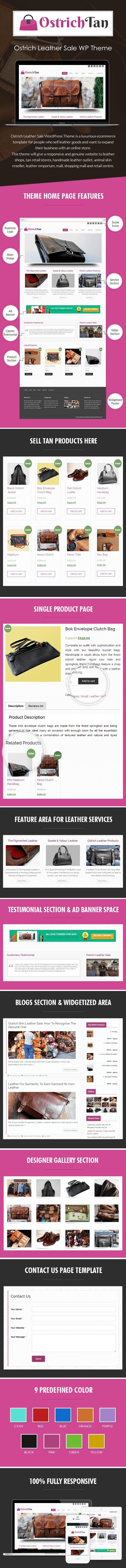 Ostrich Leather Sale WordPress Theme