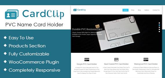 pvc name card holder wordpress theme template inkthemes