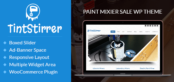 Paint Mixer Sale WordPress Theme