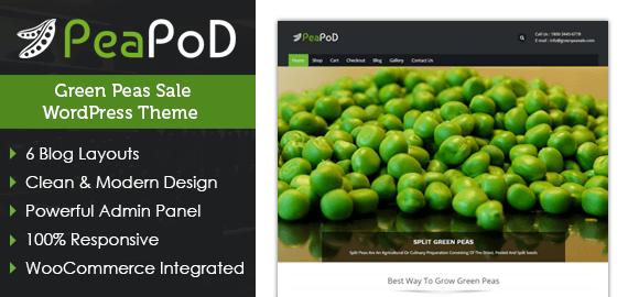 Green Peas Sale WordPress Theme