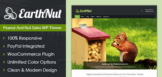 Peanut And Nut Sales WordPress Theme