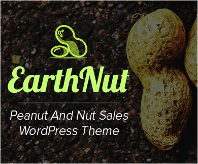 Earth Nut - Peanut And Nut Sales WordPress Theme & Template
