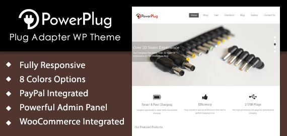 Plug Adapter WordPress Theme