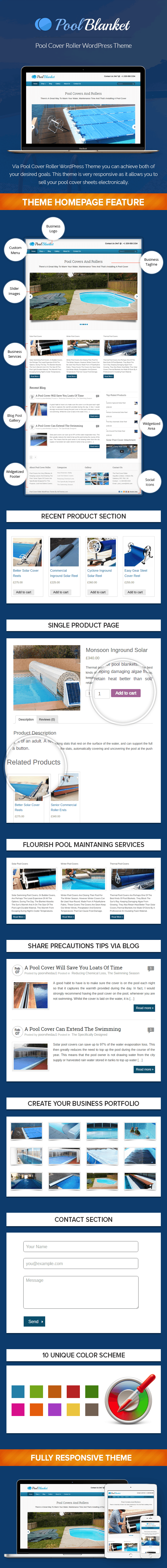 Pool Cover Roller WP Theme