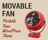 Movable Fan - Portable Fans WordPress Theme & Template