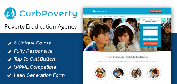 Poverty Eradication Agency WordPress Theme