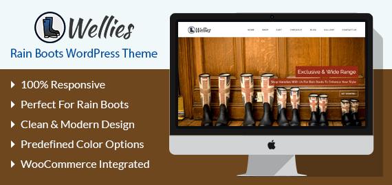 Wellies rain boots wordpress theme template inkthemes wellies rain boots wordpress theme template maxwellsz