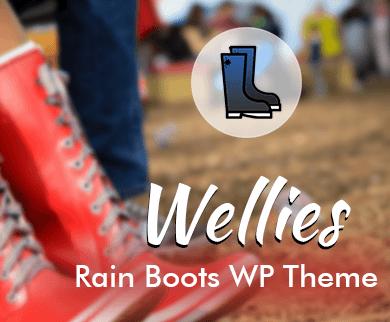 Wellies - Rain Boots WordPress Theme & Template