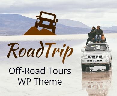 Road Trip - Off-Road Tours WordPress Theme & Template