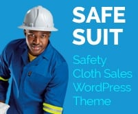 Safe Suit - Safety Clothing Sales WordPress Theme & Template