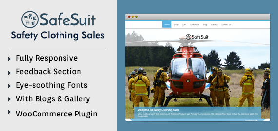 Safety Clothing Sales WordPress Theme & Template