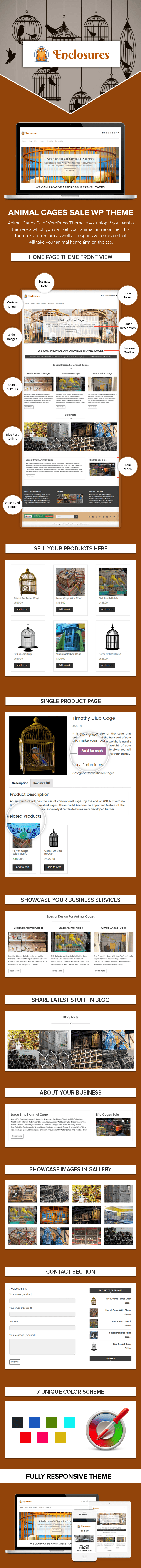 Animal Cages Sale WordPress Theme