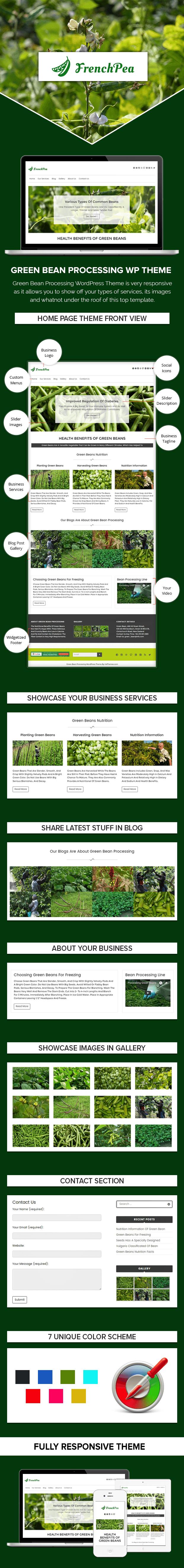 Green Bean Processing WordPress Theme