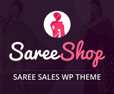 Saree Shop - Saree Sales WordPress Theme & Template