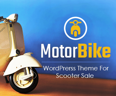 Motor Bike - Scooter Sale WordPress Theme & Template