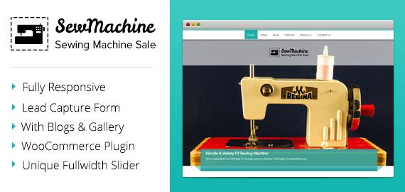 Sewing Machine Sale WordPress Theme & Template