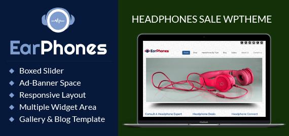 Headphones Sale WordPress Theme