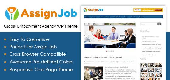 Global Employment Agency WordPress Theme