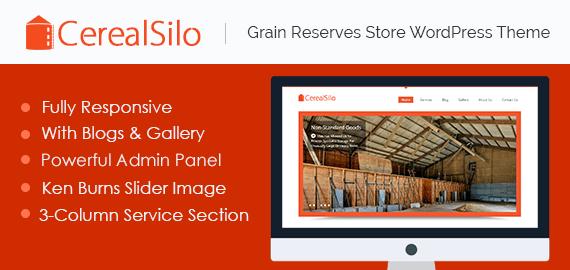 Cereal Silo – Grain Reserves Store WordPress Theme