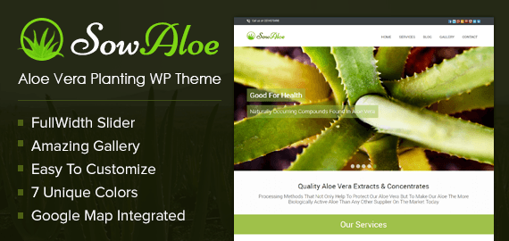 Aloe Vera Planting WordPress Theme