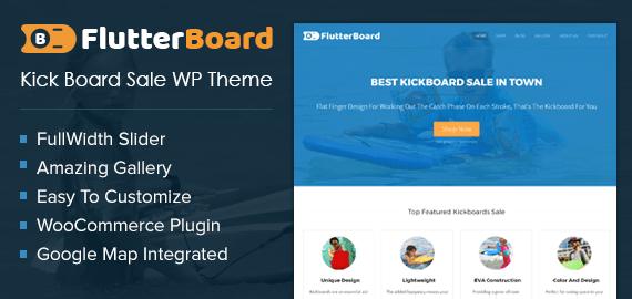 Kick Board Sale WordPress Theme & Template