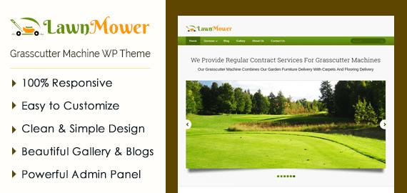 Lawn Mower – Grasscutter Machine WordPress Theme