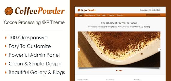 Coffee Powder – Cocoa Processing WordPress Theme