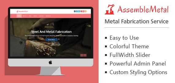 Metal Fabrication Service WordPress Theme & Template