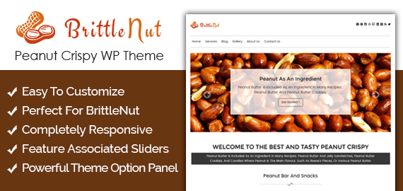Peanut Crispy WordPress Theme