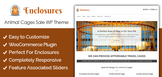 Enclosures – Animal Cages Sale Ecommerce WordPress Theme