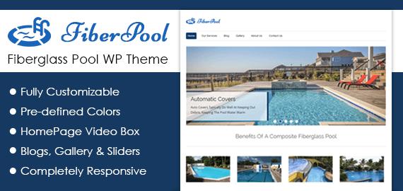 Fiberglass Pool WordPress Theme & Template