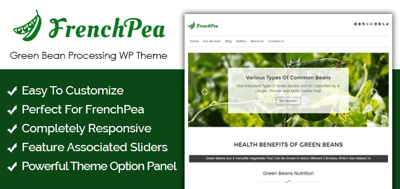 French Bean – Green Bean Processing WordPress Theme