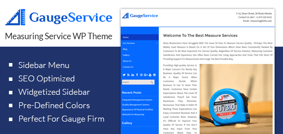 [GaugeService] Measuring Service WordPress Theme