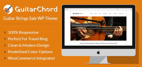 Guitar Strings Sale WordPress Theme