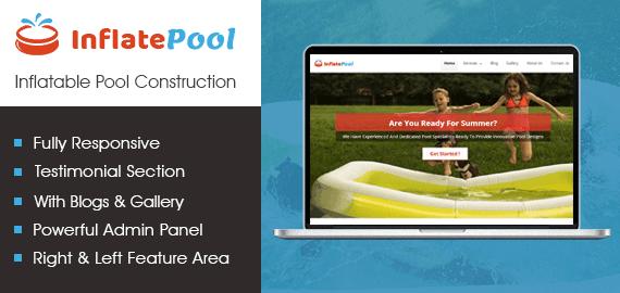 Inflatable Pool Construction WordPress Theme