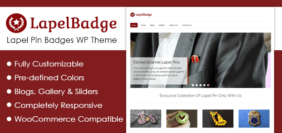 Lapel Pin Badges WordPress Theme