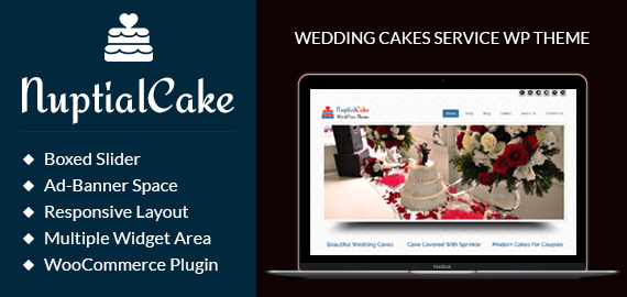 Nuptial Cake – Wedding Cakes Service WordPress Theme