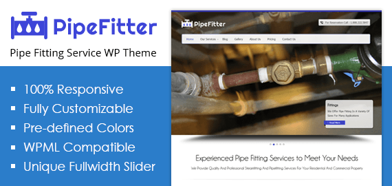 Pipe Fitter – Pipe Fitting Service WordPress Theme